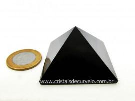 Piramide Obsidiana Negra Pedra Vulcanica Medidas Baseadas Queops Cod PO9779