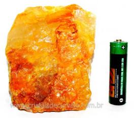 Hematoide Amarelo Pedra Bruto Quartzo Natural Cod HA4189