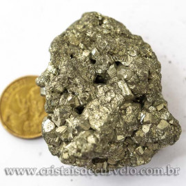 03 Pirita Peruana Pedra Bruto 40 mm Aprox e 80 a 90 GR Cada