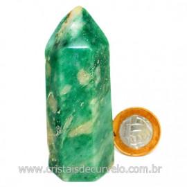 Ponta Jade Verde Extra Lapidado Pedra Natural Garimpo Cod 126757