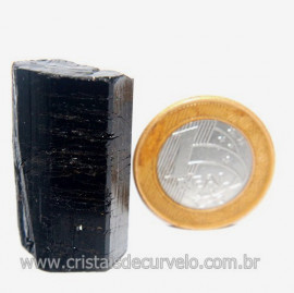 Turmalina Preta Pedra Extra Firme e Dura Natural Cod 119422