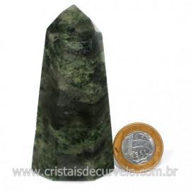 Ponta Epidoto Verde Na Matriz Ideal Para Coleção Cod 128504