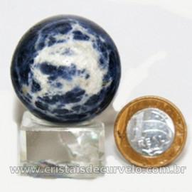 Esfera Sodalita Azul Bola Pedra Natural Garimpo Cod 126910