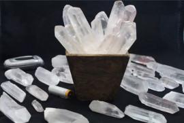 Cristal Gerador Bruto Natural Pacote 1KG Pontas Comum Pedra Quartzo