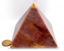 Piramide Quartzo Vermelho Baseada Queops Pedra Comum Lapidado Manual Cod 663.2