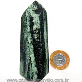 Ponta Pedra Quartzo Brasil Natural Gerador sextavado 113865