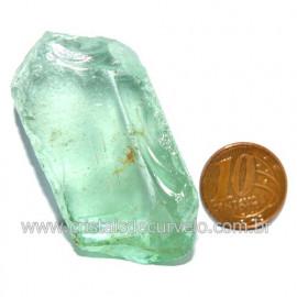 Obsidiana Verde Pedra Vulcanica Ideal P/ Coleçao Cod 119708