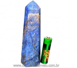 Ponta Dumortierita Pedra Natural Gerador Sextavado Cod PD3242