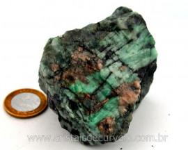 Esmeralda Bahia Canudo Incrustado no Xisto Pedra de Colecionador Cod 338.4