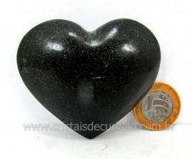 Coração De Quartzo Preto Quartzito Negro Pedra Natural Tamanho Medio Cod 135.5