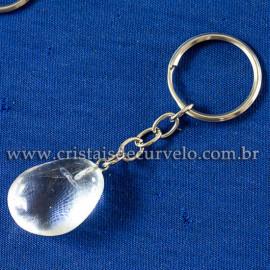 Chaveiro Pedrinha Cristal Quartzo Rolada Natural 112932