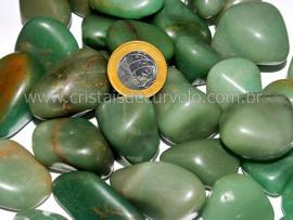 1kg Pedra Rolado Quartzo Verde Tamanho Grande Pedra de Garimpo REF 250074