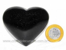 Coração Quartzo Preto Quartzito Negro Pedra Natural Cod CP7676