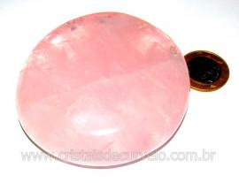 Massageador Disco Cristal Quartzo Rosa Pedra Natural Cod MQ7313