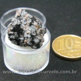 Obsidiana Flocos de Neve Pedra Natural Amostra Estojo Cod 126982
