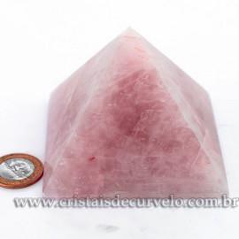 Pirâmide GRANDE Pedra Quartzo Rosa Natural Queops cod 120745
