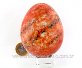Ovo Calcita Laranja Lapidado Artesanal Pedra Natural Para Colecionador Cod 734.1