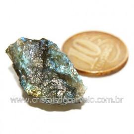 Labradorita Canadense Mineral Natural No Estojo Cod 123835