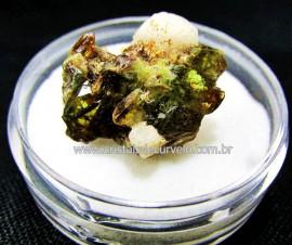Esfenio Titanita Verde Mineral Natural No Estojo Para Colecionador Exigente Cod ET29.0