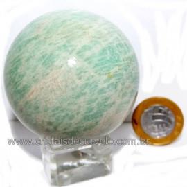 Esfera Amazonita Verde Pedra Natural de Garimpo Cod 113785