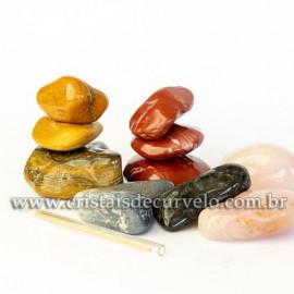 03 kg Massageador De Seixo Pedras Mistas ATACADO Reff 109399