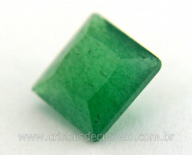Gema Quartzo Verde Natural Quadrado Montagem Joia Cod GA1983