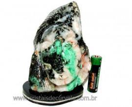 Busto de Artesanato Rosto Esculpido Pedra Esmeralda Cod RE6323