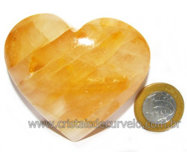 Coração Hematoide Amarelo Natural Presente Ideal Cod 116034