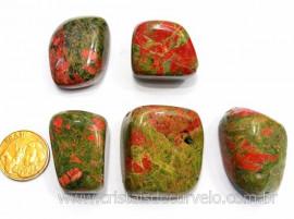 05 Unakita Rolado Pedra Natural de Garimpo Esoterismo Colecionador Ref 44.7