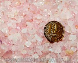 Quartzo Rosa Pedra Rolada Miúdo Pct 500Gr Reff RM9710