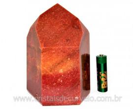 Ponta Quartzo Vermelho Pedra Natural de Garimpo Cod PQ7235
