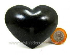 Coração De Quartzo Preto Quartzito Negro Pedra Natural Tamanho Medio Cod 138.6