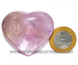 Coraçao Ametista Pedra Natural Ideal P/Presentear Cod 116109