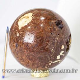 Bola Grande Pedra Quartzo Jiboia Natural 6.5kg cod 120460