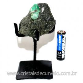 Esmeralda Canudo Pedra Natural com Suporte De Ferro Cod 119355