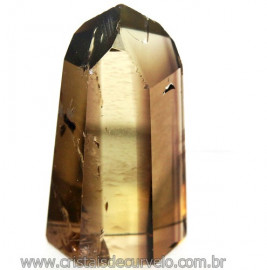 Ponta Citrino Natural e Fume Pedra Quartzo Bi Color 109293