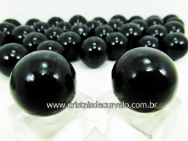 02 Mini Bola Cristal Negro Esfera Pedra Natural e Pequena KIT