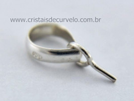10 Presilha Com Pino Prata 950 Para Montagem de Pingentes com Furo ATACADO