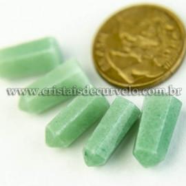 05 Micro Pontinha Cristal Verde 15mm pra montar joias