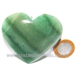 Coração Quartzo Verde Natural Comum Qualidade Cod 119826