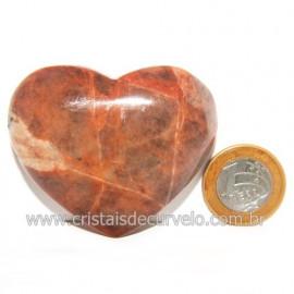 Coração Amazonita Pêssego Pedra Natural de Garimpo Cod 119054