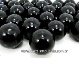 10 Mini Bola Cristal Negro Esfera Pedra Natural e Pequena ATACADO EZ0480