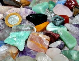 1kg Cascalho Polido Pedras Misto MedioGrande REF MG5236