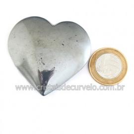 Coração Hematita Pedra Natural Lapidação Manual Cod 121874