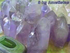 05  kg Ametista Gerador Pontas Lapidado COMUM  Pedras de Garimpo ATACADO