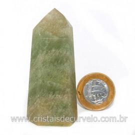 Ponta Pedra Onix Verde Lapidação Gerador Sextavado Cod 128684