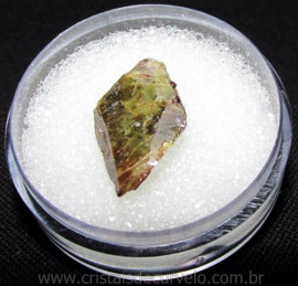 Esfenio Titanita Mineral Bruto Natural no Estojo Cod 115070