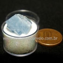 Calcita Azul do Mexico no Estojo Pedra Natural Cod 126637