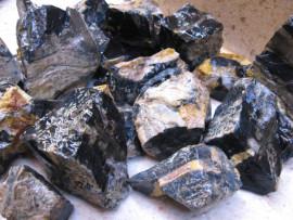 ONIX PRETO Pedra Bruto Pra Lapidar Pacote Atacado 10 kg