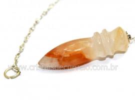 Pendulo Egipcio Pedra Hematoide Amarelo Natural Reff PE8194